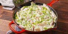 Chicken and zucchini noodle alfredo 'pasta'
