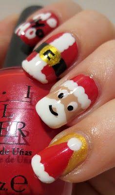 Santa Nails |     - Christmas Nail Art
