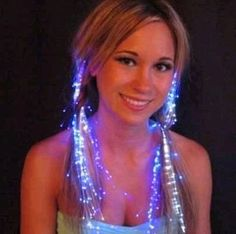 Luminous flash hair braid of the dance party ktv stage props decoration 25g(China (Mainland))