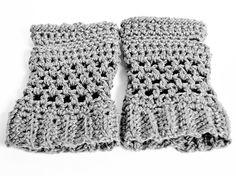 Crochet Fingerless Gloves Mittens - You Pick the Colour. $15.00, via Etsy.