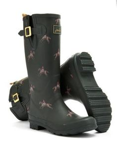 Green Horses High Wellys Rain Boots | Liv