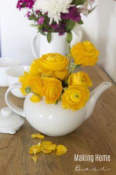 Teapot Vase and more Spring Ideas via Making Home Base