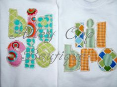 Sweet Big sister brother little sister brother by amandajohne, $38.95 | cute too!