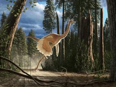 Struthiomimus sedens - image copyright Oxford University Museum of Natural History and Julius Csotonyi.