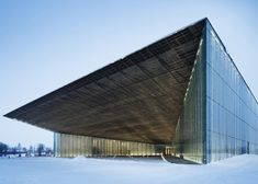 Dorell Ghotmeh Tane has created a new home for the Estonian National Museum – a 350-metre-long sloping glass building that rises from a disused runway.