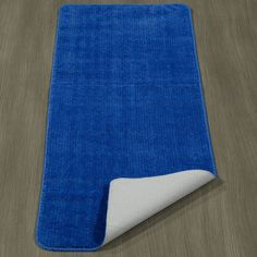Sax Blue Solid Bathroom Rug Durable Pile and Non Skid Rubber Backing Inch Laundry Room Rugs, Laundry Room Storage, Blue Bathroom Rugs, Bathroom Bath, Popular Woodworking, Woodworking Plans, Types Of Painting, Room Carpet, Bath Rugs