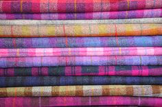 Harris Tweed - Pinks & Purples by claremansell, via Flickr