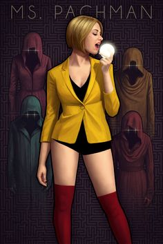 Interesting take on Ms. Pacman by Astor Alexander
