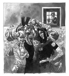 Hellboy, Kate Corrigan, Abe Sapien &  Liz Sherman by Duncan Fegredo