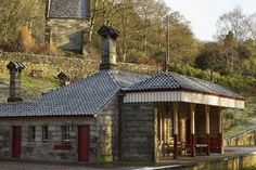 Book your stay at Alton Station, a carefully restored former railway station nestled in the Churnet Valley Famous Gardens, Stay Overnight, Gazebo, Restoration, Outdoor Structures, Cabin, House Styles, Building, Places