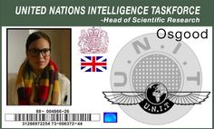 UNIT ID Badge. Doctor Who, Osgood, Day Of the Doctor Episode -made by Katie Aiani