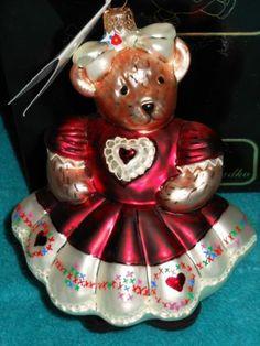 Christopher Radko 1999 Hearts and Flowers Muffy Vander Bear Ornament   eBay