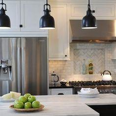 Calcutta marble Island, Contemporary, kitchen, Kitchen Studio of Glen Ellyn