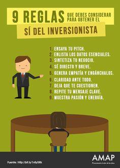9 reglas que debes considerar para obtener el sí del inversionista.