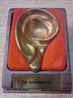 "The Sympathetic Ear in bronze | Cast-bronze ""sympathetic ear"" from 1978. 