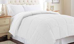 $42.00 Down alternative reversible comforter White/White Queen - http://freebiefresh.com/down-alternative-reversible-comforter-whitewhite-queen-review/