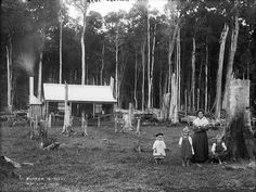 Throughout the 19th century and much of the 20th century women living and working on Australian farms were little acknowledged for their contribution. Often they physically helped their husbands to clear the land, build the house, and enclose the farm with heavy post and rail fences. They added the feminine touch to the interior of outback cottages, slab huts and even tents.