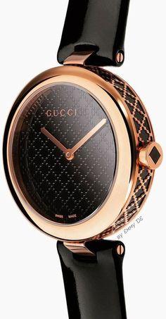 Ladies Watches: These are the new watch trends- Damenuhren: Das sind die neuen Uhrentrends Gucci Ladies& Watches Elegant in Black - Stylish Watches, Cool Watches, Watches For Men, Ladies Watches, Cheap Watches, Luxury Watches Women, Watches Rolex, Female Watches, Armband Tutorial