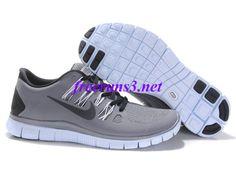 U2763N Mens Nike Free 5.0 Grey Black Shoes