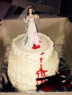 Cakes 4 All Occasions!   From Weddings to Divorce!!   Check out this wedding style Divorce Cake inspired by a truly remarkable story. The Bride endured and suffered, surviving two strokes because of the pain and agony of her marriage.   This cake signifies the Death of her love for the Groom!   S/N:  No one was murdered in the making of this cake.    #WeddingCake #Divorce #LoveStory #Celebrate #RedVelvet #CreamCheese #IncredibleEdibles #Bakery #Instafood #FoodPorn #BlackRosePastries