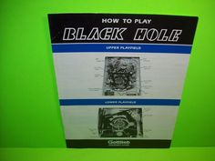 Gottlieb BLACK HOLE Original 1981 Flipper Pinball Machine How To Play Info Flyer #Gottlieb #BlackHole #PinballFlyer @PinballMachineFlyers