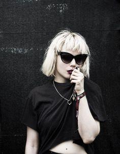Blondie (Debbie Harry) meets NYC-era Marilyn Monroe inspired Modern Neo-Goth look.