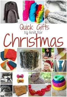 16 quick and easy knitting projects for Homemade Christmas Gifts To Knit