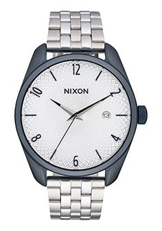Nixon Women's 'Bullet, Navy' Quartz Stainless Steel Automatic Watch, Color:Silver-Toned (Model: A418-1849-00) *** Click on the image for additional details.