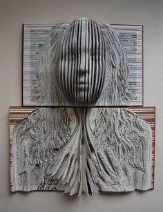 Paper Book Sculpture Art - Around us, there are a lot of works of art that can easily be found, because every object displayed in a room, whether open or Paper Book, Paper Art, Altered Books, Altered Art, Art Altéré, Book Art, Inspiration Art, Art Design, Book Crafts
