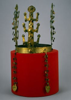 Golden Treasures: The Royal Tombs of Silla | Crown, Three Kingdoms period, Silla kingdom (57 B.C.–668 A.D.), 5th–6th century Korea Gilt bronze; h. 8 1/8 in. (20.6 cm) Leeum, Samsung Museum of Art