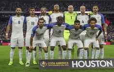 Players of USA pose for pictures before the start of their Copa America Centenario semifinal football match against Argentina in Houston, Texas, United States, on June / AFP / OMAR TORRES Back Row, Front Row, Kyle Beckerman, Michael Bradley, Clint Dempsey, Copa America Centenario, Poses For Pictures, Football Match, United States