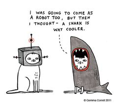 Happy Shark week! #gemmacorrell #shark #cats www.gemmacorrell.com