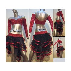 Ballroom Latin Salsa Custom Dance Competition Costume L83 ($38) ❤ liked on Polyvore