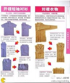 How to Fold Clothes and Save Space in Your Suitcase or Closet The site has lots of diagrams for different types of clothes. 11 charts show how to fold your clothes when traveling or organizing your closets, shelves and drawers How To Fold Jeans, Folding Jeans, Konmari Method, How To Style Bangs, Tidy Up, Packing Tips, Closet Storage, Getting Organized, Organization Hacks