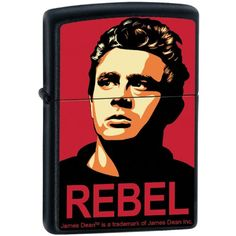Zippo Custom Lighter  James Dean Actor REBEL Obey Design  RARE >>> Read more  at the image link. (This is an Amazon affiliate link and I receive a commission for the sales and I receive a commission for the sales)