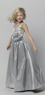 Seahorse Style 44723 Flower Girl Dress in Silver