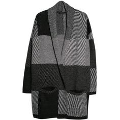 Mango Mohair-Blend Check Cardigan, Light Grey (210 HRK) ❤ liked on Polyvore featuring tops, cardigans, cardigan top, short-sleeve cardigan, long sleeve tops, light gray cardigan and light grey cardigan