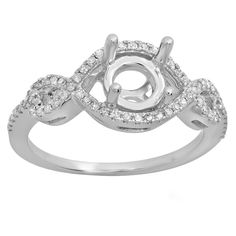 Elora 14k Gold 1/4ct TDW Round Diamond Swirl Bridal Semi Mount Engagement Ring (No Center Stone) (I-J, I1- (