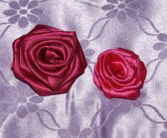 Rosa+di+nastro+fatta+a+mano+di+fashion+pinck+su+DaWanda.com