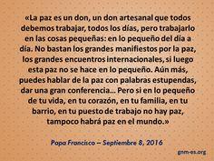 Santa Marta, Papa Francisco, War, World, Interesting Quotes, Little Things, Peace