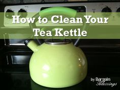 Keep your tea pot looking brand new and free of mineral deposits with these easy steps!