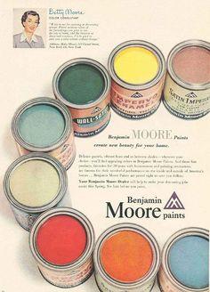 1950s vintage paint colors.