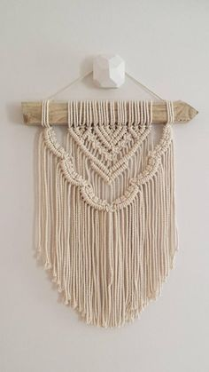 This is one of a range of wall hanging which I have designed for those who would love to purchase a macramé wall hangin. Macrame Design, Macrame Art, Macrame Projects, Macrame Knots, Modern Macrame, Macrame Wall Hanger, Back Piece Tattoo, Macrame Tutorial, Macrame Patterns