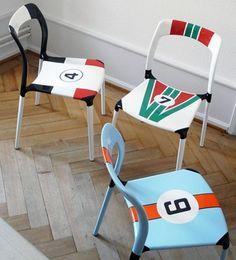 Racecar chairs
