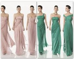 vestidos damas de honor rosa palo - Buscar con Google