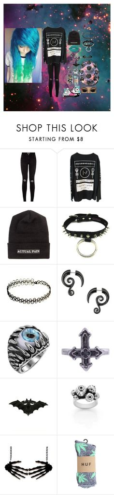 """Give Em Hell Kid~ My Chemical Romance"" by headbangingunicorn ❤ liked on Polyvore featuring Actual Pain, Converse, Metal Couture, Meadowlark, Samsung and HUF"