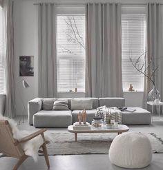 Šedý obývák