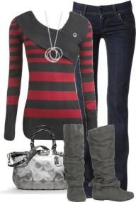 The sweater reminds me of Marceline's from Adventure Time. :D