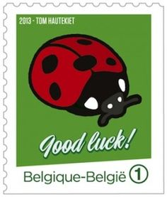 Good luck! http://d-b-z.de/web/2013/09/13/die-briefmarke-als-talisman/