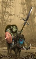 Orc on Boar by YoitisI
